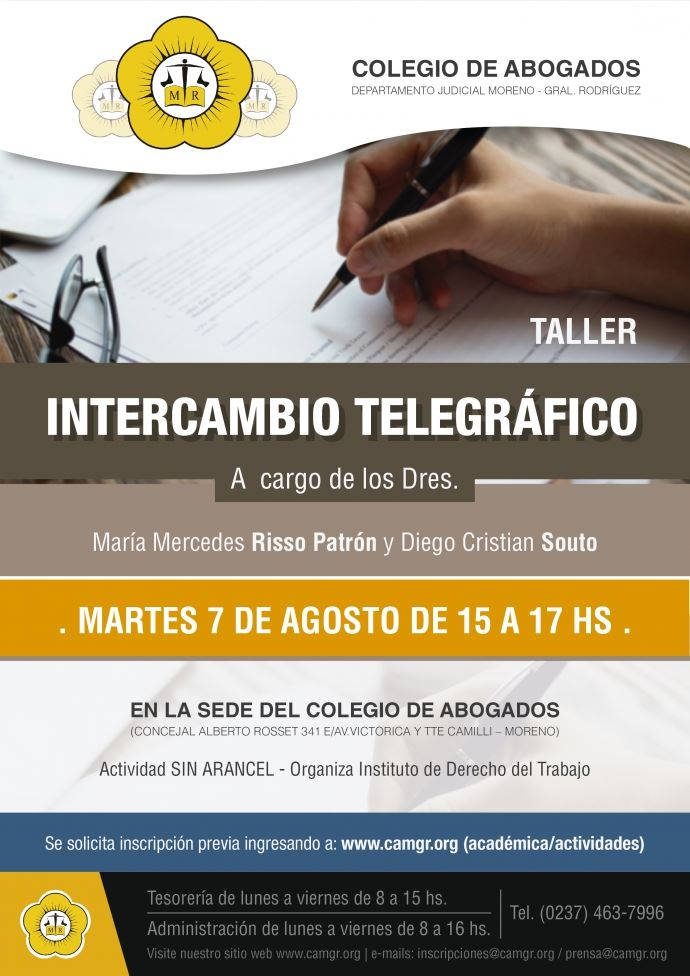 TALLER INTERCAMBIO TELEGRAFICO